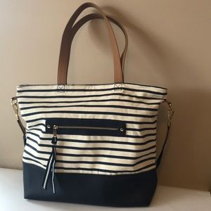A New Day Striped Canvas Tote